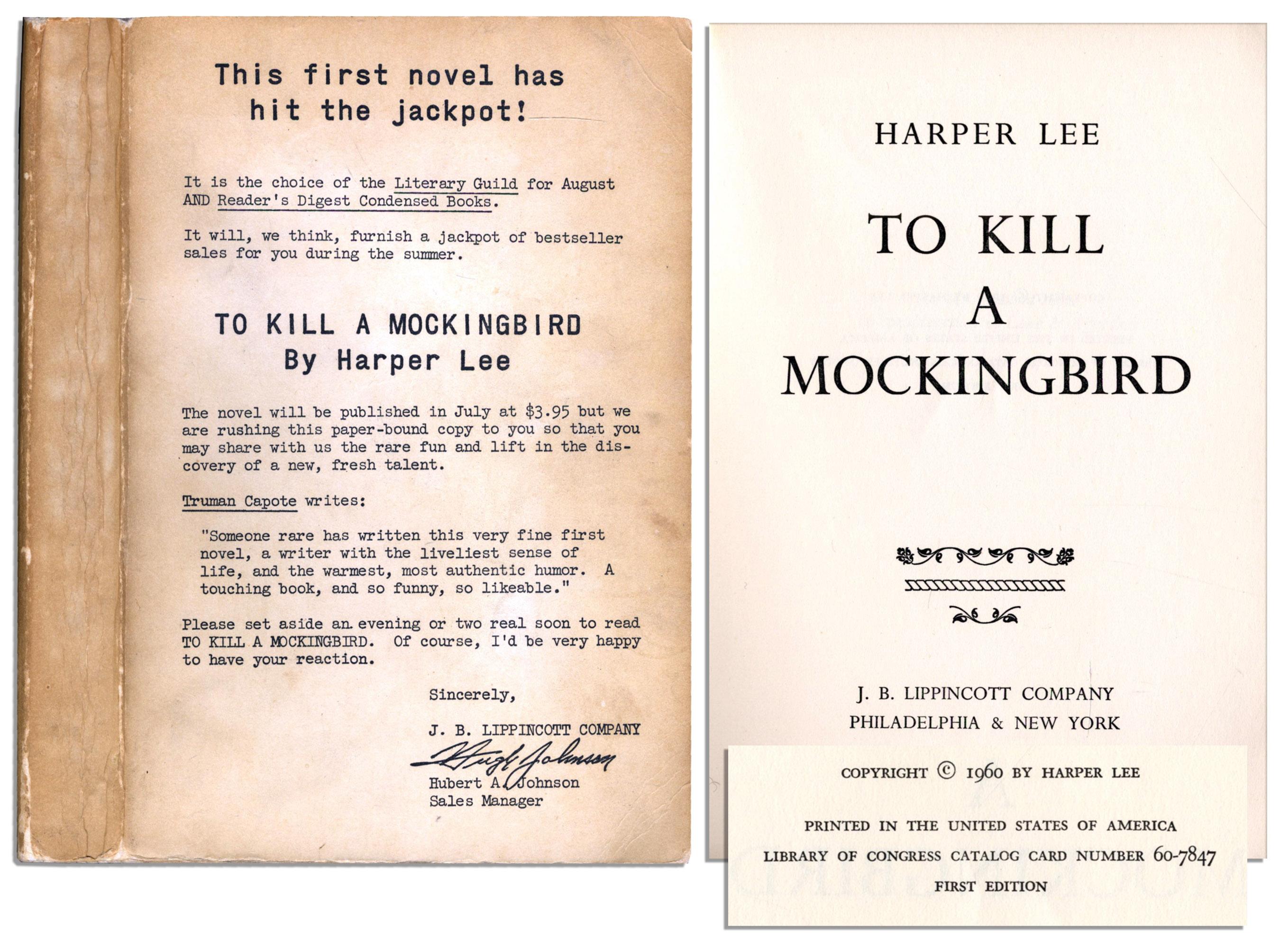 Lot Detail To Kill A Mockingbird Advance Reading Copy One