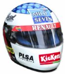 Jean Alesi Race-Worn Helmet -- From 1997 Formula One Season