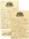 Pie Traynor Autograph Letter Signed With Handwritten Envelope -- 1935 -- ...I have been very busy trying to make trades and newspapermen are always around...