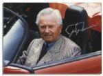 Signed 7 x 5 Photo of Legendary Automaker Ferdinand Ferry Porsche -- Near Fine