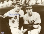 Ted Williams Signed Photo Posing With DiMaggio -- 14 x 11 -- With PSA/DNA COA