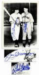 8 x 10 Signed Photo by Baseball Greats Joe DiMaggio and Bob Feller -- With PSA/DNA COA