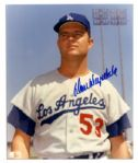 Don Drysdale 8 x 10 Photo Signed -- With PSA/DNA COA