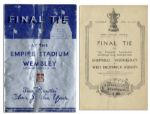 Scarce Program From the 1935 Football Association Challenge Cup -- Sheffield Wednesday v. West Bromwich Albion