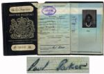 Paul Parkers Passport Spanning His Time Playing Soccer With Fulham & Queens Park Rangers -- Signed & With 2 Photos