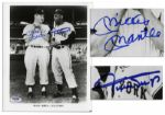 Excellent Mickey Mantle & Willie Mays Signed Photo -- With PSA/DNA