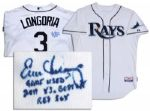 Evan Longoria Signed & Game-Worn Home Jersey -- From the 16 June 2011 Rays v. Red Sox Game