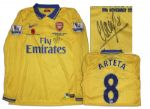 Arsenal Football Shirt Match-Worn and Signed by Mikel Arteta