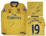 Santi Cazorla Match-Worn Arsenal Shirt Signed