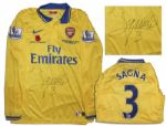 Arsenal Football Shirt Match-Worn and Signed by Bacary Sagna