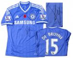 Kevin De Bruyne Match-Worn Chelsea Football Shirt Signed