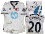 Tottenham Hotspur Football Shirt Match-Worn and Signed by Michael Dawson