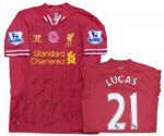 Lucas Leiva Match-Worn & Team-Signed Liverpool Shirt