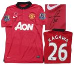 Shinji Kagawa Match-Worn Manchester United Football Shirt Signed