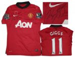 Ryan Giggs Signed Match-Worn Shirt From Manchester United
