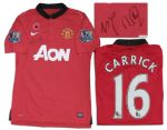 Michael Carrick Manchester United Match-Worn Shirt Signed