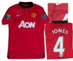 Phil Jones Match-Worn Manchester United Shirt Signed