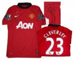Tom Cleverley Match-Worn Manchester United Shirt Signed