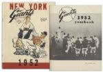 1952 New York Giants Yearbook -- Player Profiles & Detailed Account of The Little Miracle of Coogans Bluff