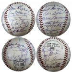 1953 New York Giants Baseball With 24 Signatures -- Including HOFers Hoyt Wilhelm & Monte Irvin -- Plus Bill Rigney, Dusty Rhodes, Bobby Thomson & Others -- With PSA/DNA COA