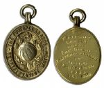 Football League Silver-Gilt Medal From the Representative Match With Irish Football League in 1965