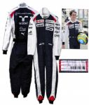 Race-Worn Suit by Formula One Driver Bruno Senna in 2012