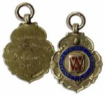 1937 Gold Medal From the Lancashire Football Combination Cup -- 9kt Gold Runners Up Medal