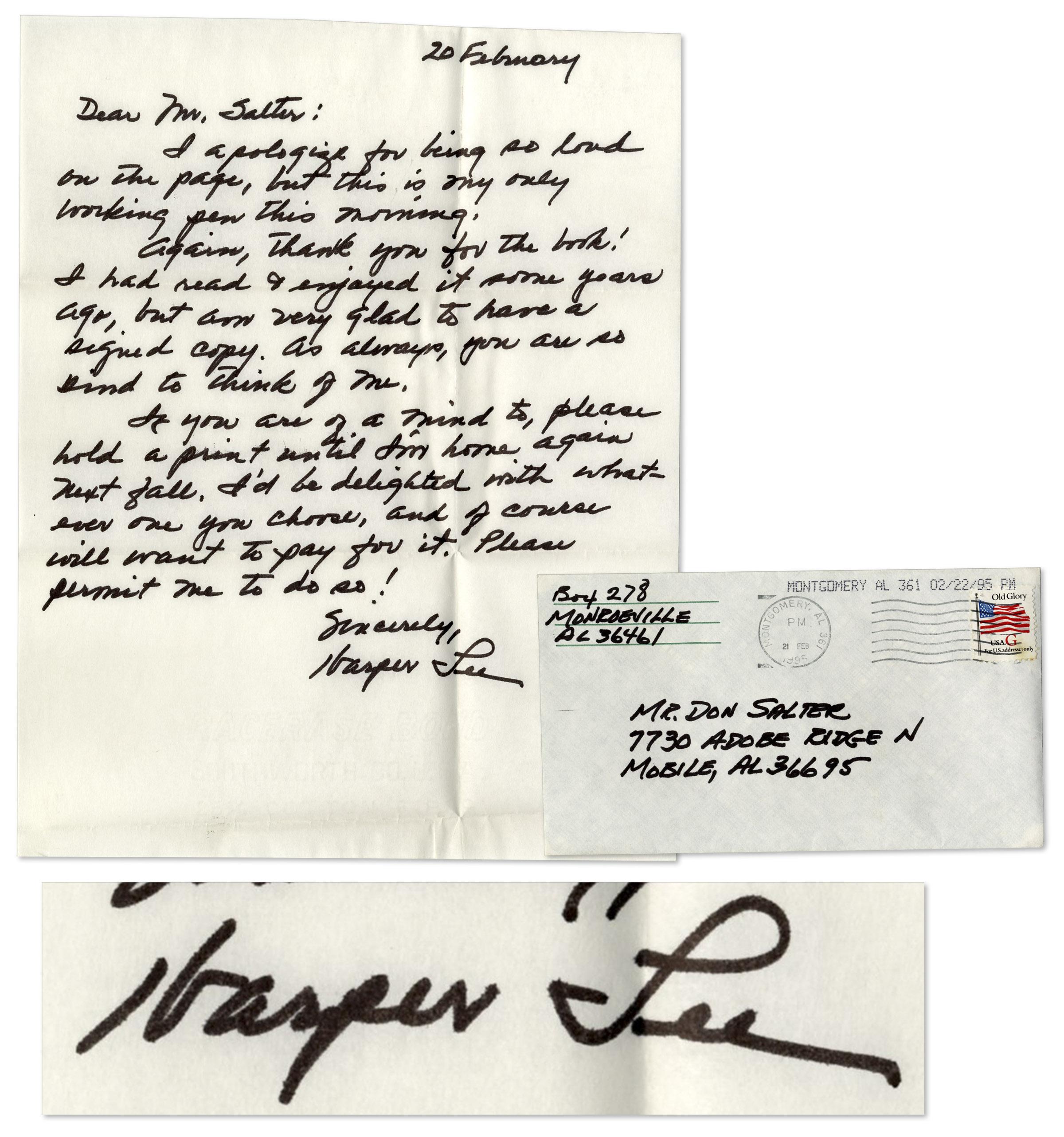 Lot Detail To Kill A Mockingbird Author Harper Lee Autograph