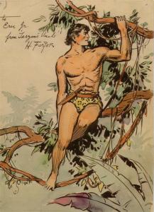 4. TarzanByHalFoster Hal Foster Prince Valiant comic art