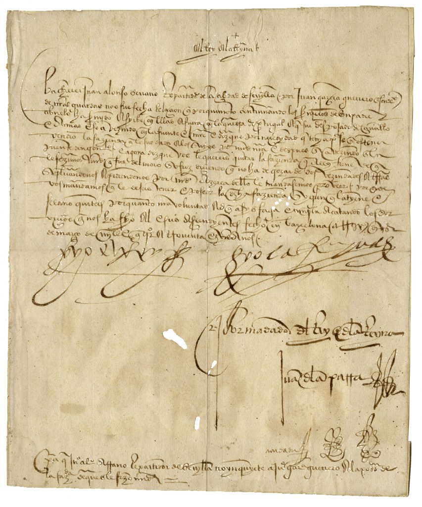 Queen Isabella autograph