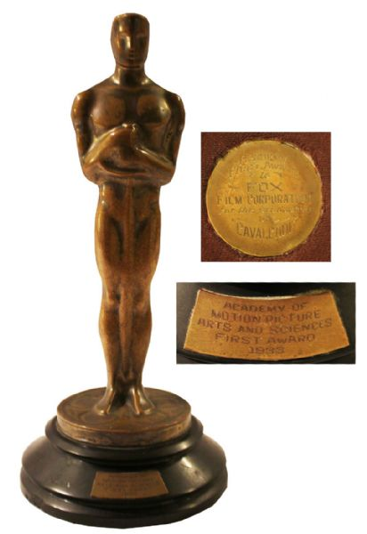 Oscar for 1933 Best Picture Cavalcade -- From the 6th Academy Awards -- Fox Film's First Oscar