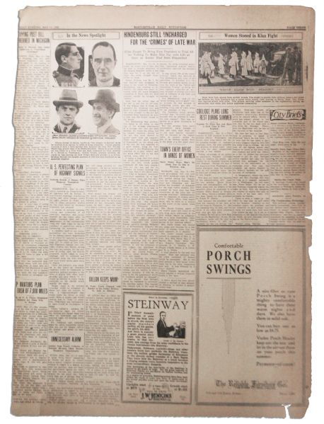 Item Detail - 1925 Ku Klux Klan Photo and Article