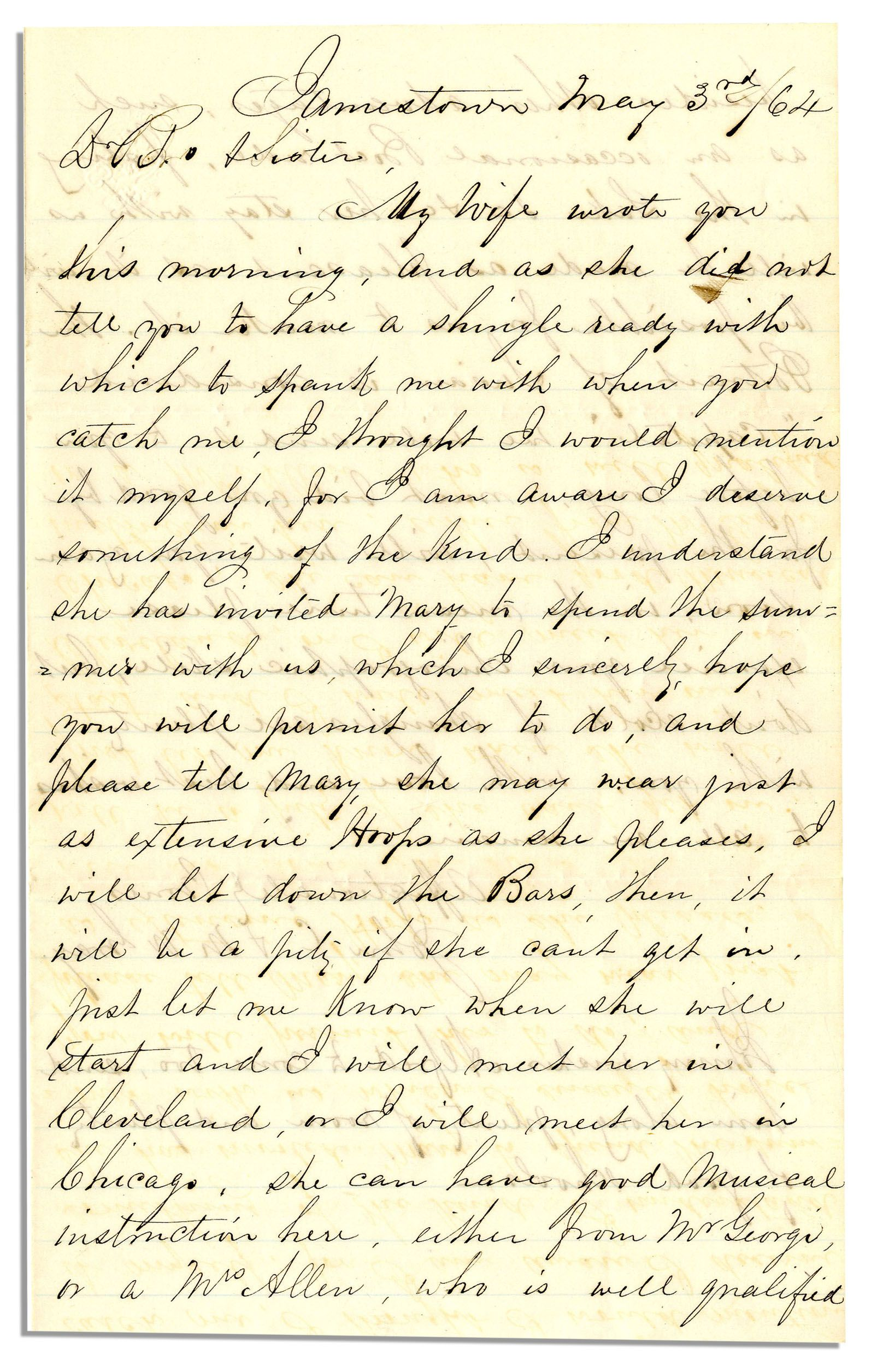Item Detail - Civil War Era Handwritten Civilian Letter