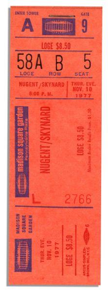 item detail ticket for cancelled november 1977 lynyrd skynyrd concert tour ended in october. Black Bedroom Furniture Sets. Home Design Ideas