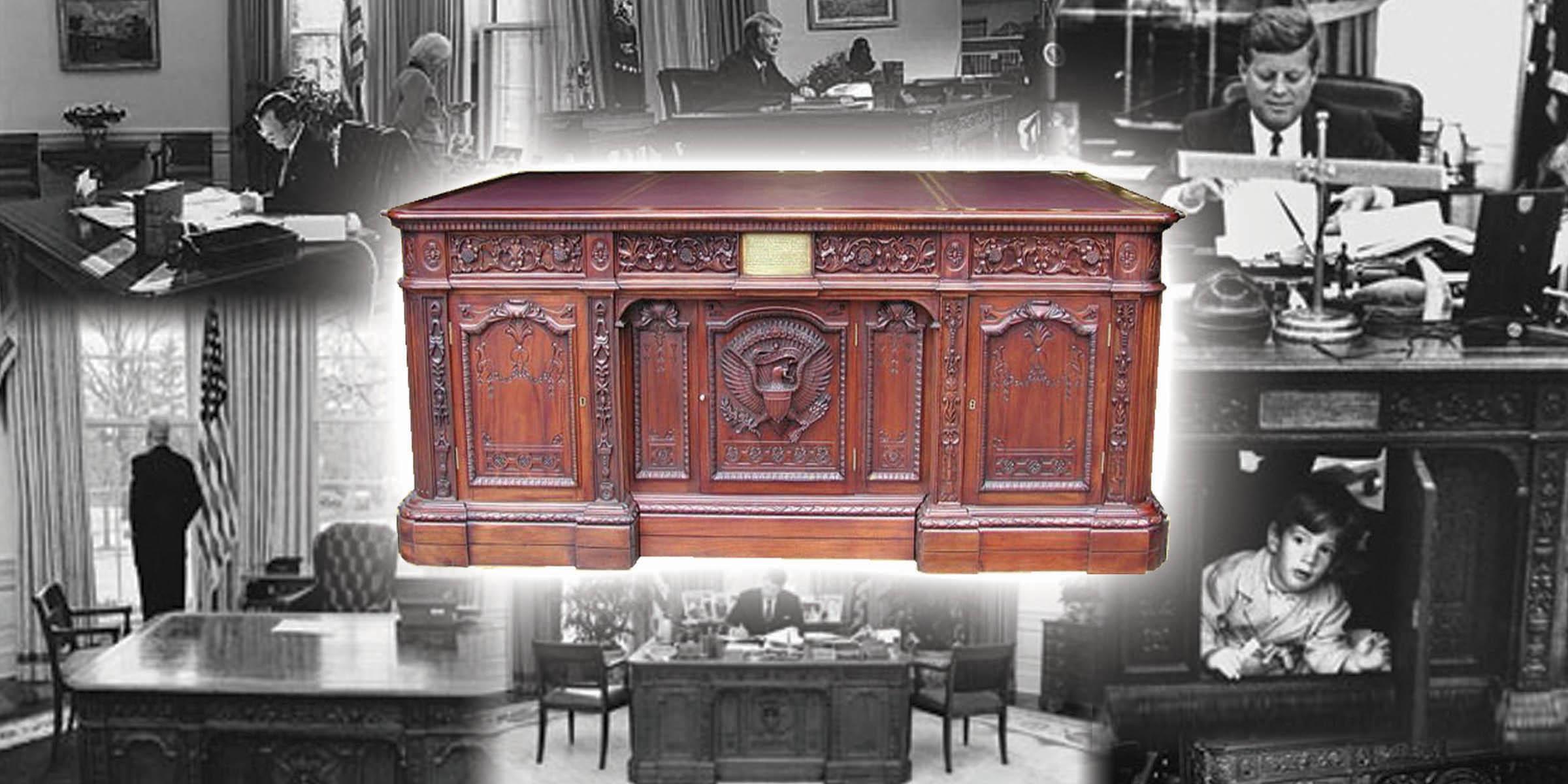 Lot Detail White House Presidential Desk Replica Based