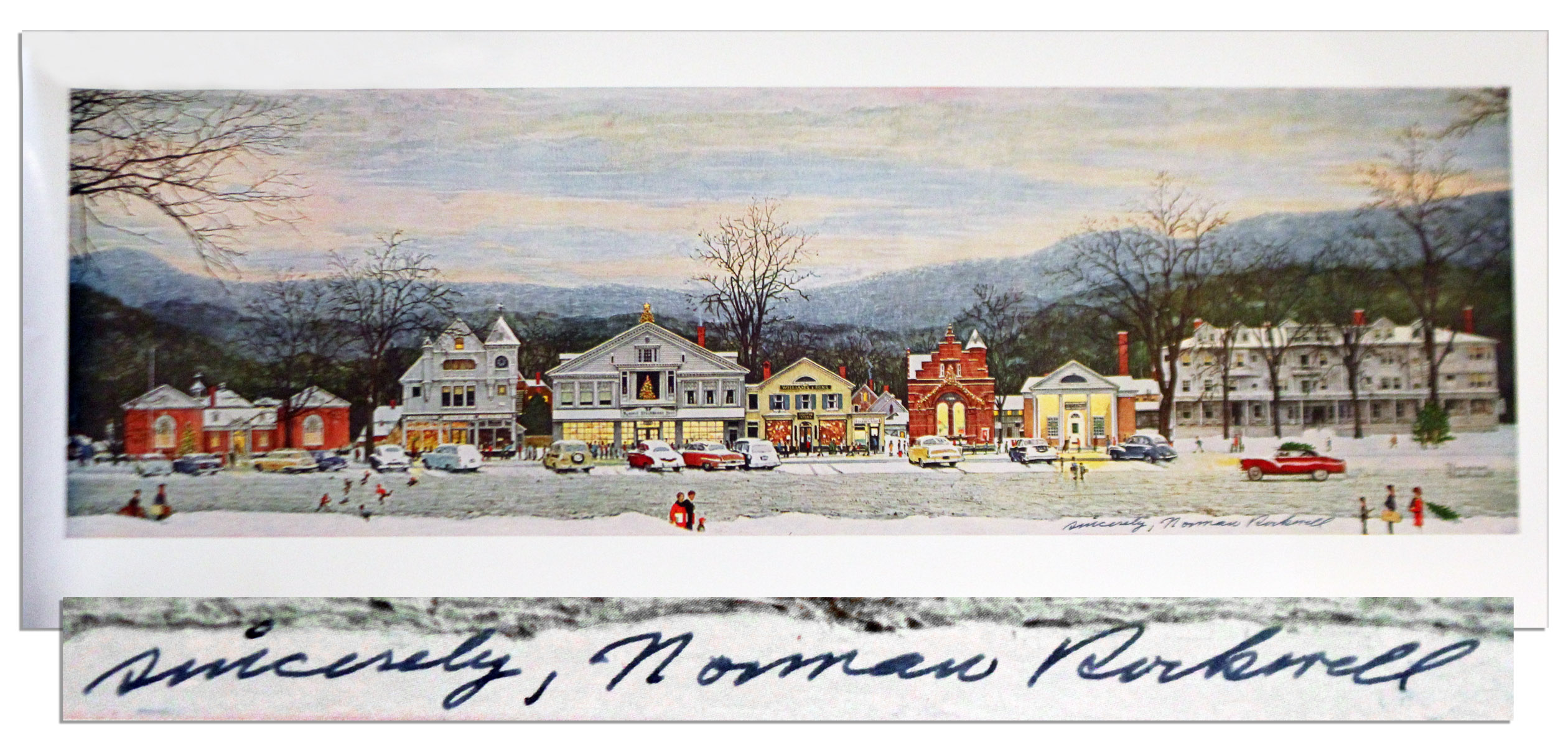 Lot Detail - Norman Rockwell Signed Printing of \'\'Christmas in ...