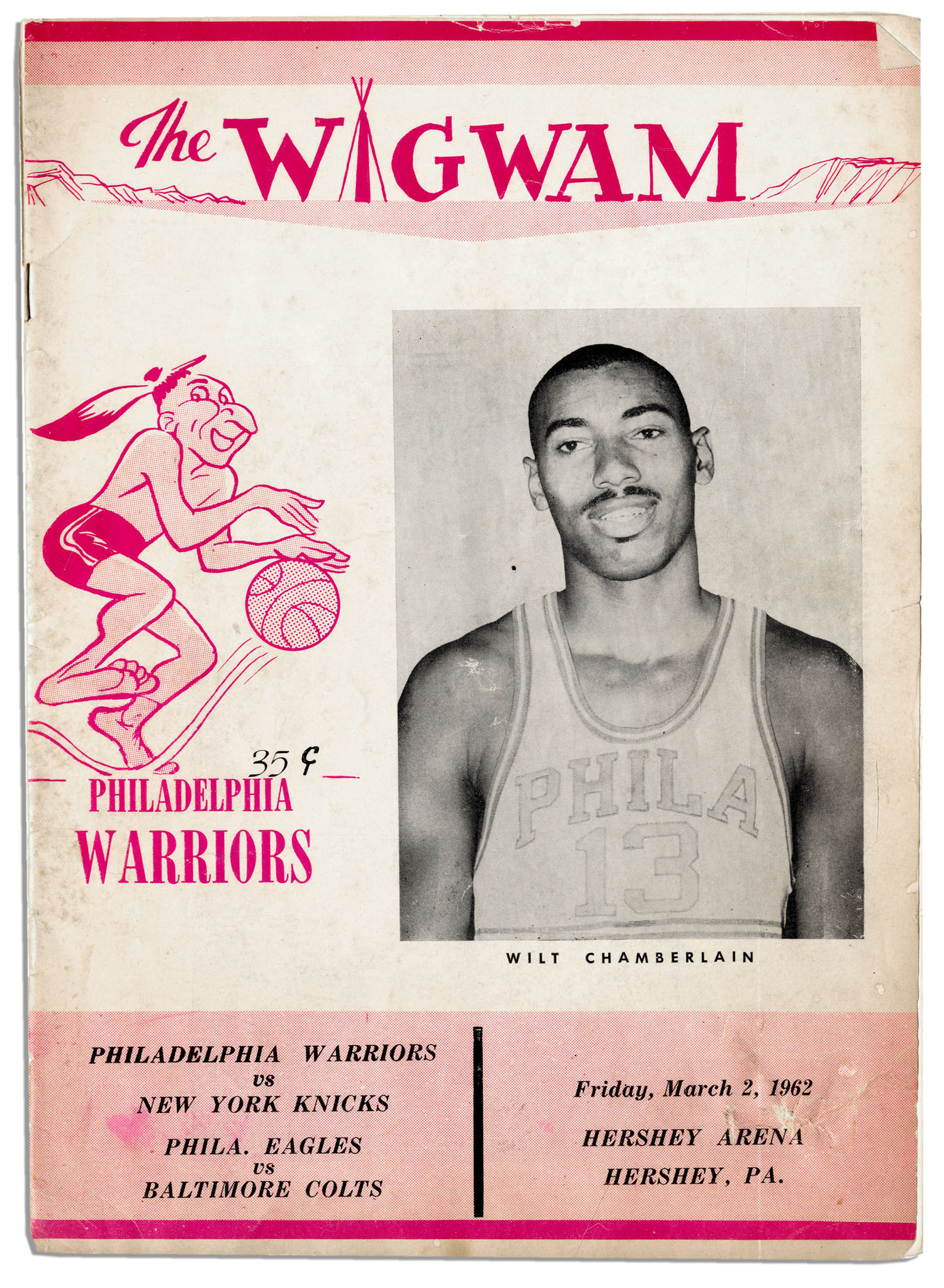 99dc331f40ed Wilt Chamberlain s 100 Point Game Program From 1962 -- The Most Renowned  Game In Basketball