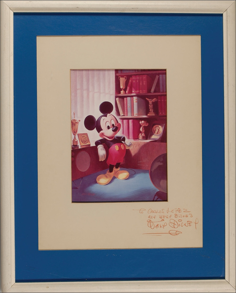 Lot Detail Mickey Mouse Print Signed By Walt Disney