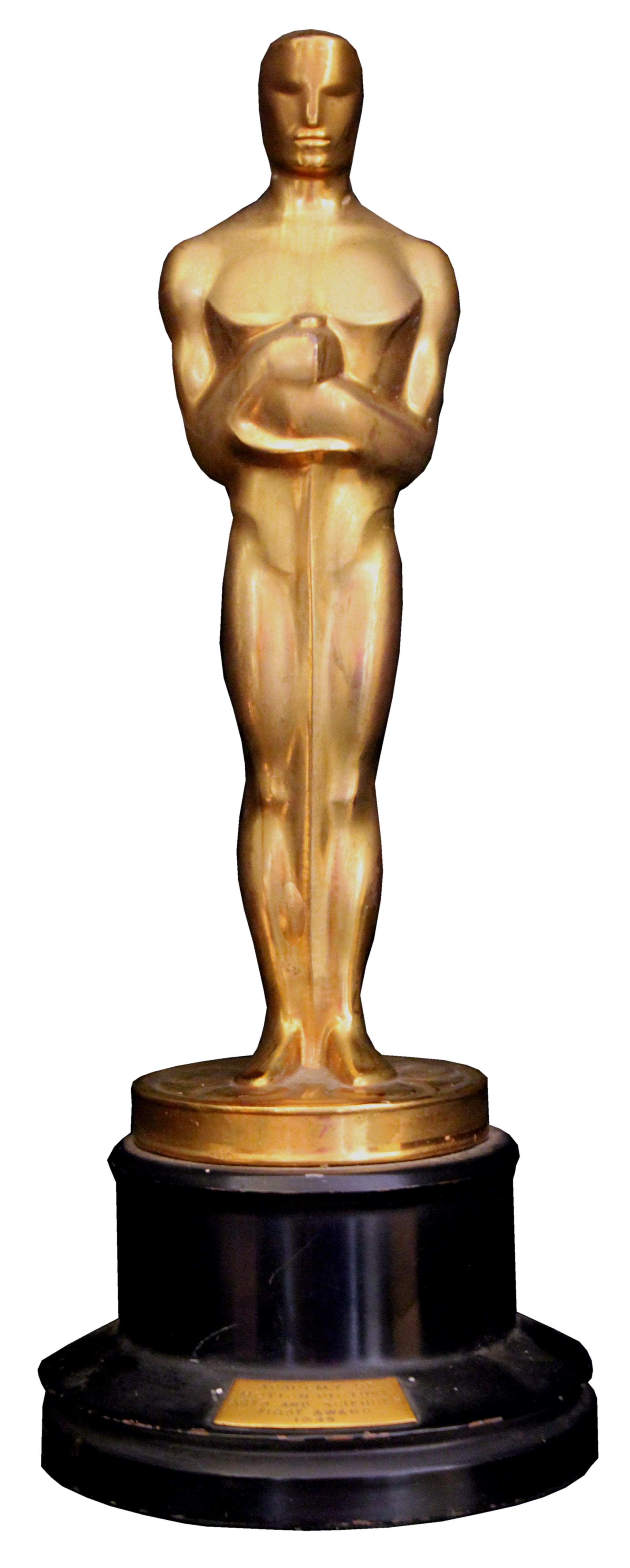 lot detail oscar statue awarded to leon shamroy for the color