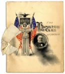 William McKinley 1900 Presidential Campaign Program -- 16pp. Booklet Measures 5.75 x 7.25 -- Very Good