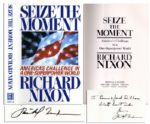 Richard Nixon Seize The Moment Signed -- Inscribed To Donna and Josh Dilloa / With best wishes / from Richard Nixon -- Near Fine