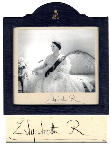 Queen Elizabeth Autograph Lovely Signed Photo of Queen Mother Elizabeth -- by Noted English Photographer Cecil Beaton