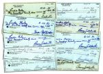 Lot of 10 Barry Goldwater Signed Checks