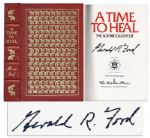 Gerald Ford Signed Easton Press Edition of His Autobiography A Time to Heal