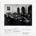 Impressive Signed Photo of President Harry Truman and His Cabinet -- 11.5 x 11.5