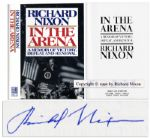Richard Nixon Signed Memoir In The Arena First Edition