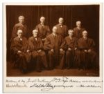 William Taft Supreme Court Signed Photo -- Signed by All Nine Justices -- 9.5 x 9