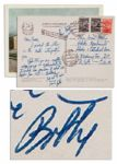 Robert Kennedy Autograph Letter Signed From the Soviet Union -- on a Soviet Union Postcard