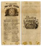 Michigan Ballot From the Lincoln-Johnson 1864 Presidential Election