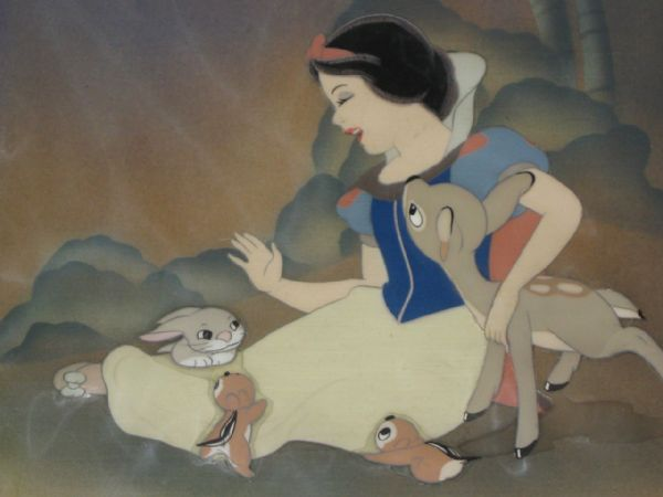 Disney's ''Snow White and the Seven Dwarfs'' Original Cel -- Beautiful, Near Fine Condition